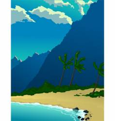 tropical mountains vector image vector image