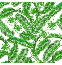 Tropical palm tree seampless pattern vector image vector image