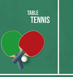 Two rackets for playing table tennis vector image vector image