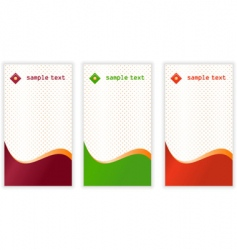 vertical business cards vector image