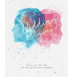 Wedding invitation begins vector