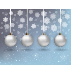 Xmas background with balls vector