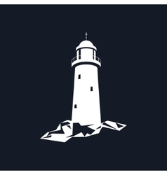 Lighthouse Isolated on Black vector image