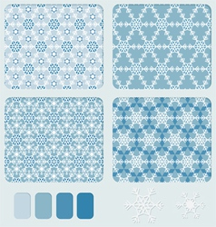 Snowflakes blue pattern vector