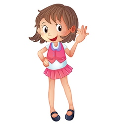 Cartoon smiling girl vector