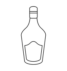Bottle cream whiskey liqueur icon outline vector