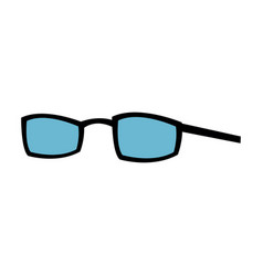 Glasses professional accessory for doctor icon vector