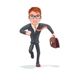 Hurry for meeting glasses case bag running vector