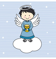 Boy first communion vector image