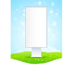 Empty vertical billboard vector