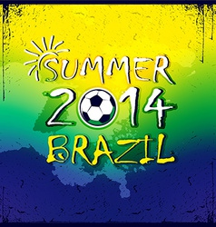 Brazilian football poster Summer 2014 vector image