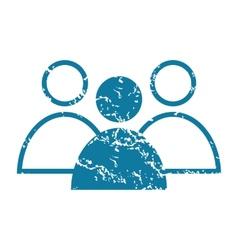 Grunge conversation icon vector