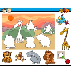 Educational game for preschool kids vector