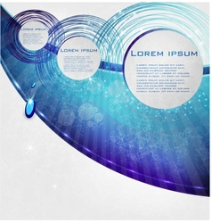 Blue circle card abstract water vector