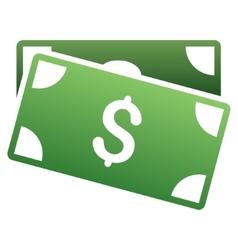 Banknotes gradient icon vector