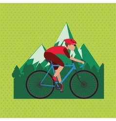 Flat of bike lifesyle design vector