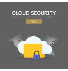 Cloud security banner concept vector