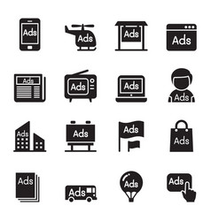 advertisement icons vector image vector image