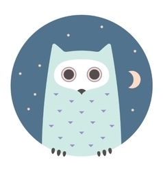 Animal set portrait in flat graphics - owl vector