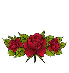 beautiful red roses isolated - vector image vector image