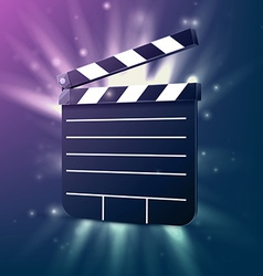 Black cinema clapper vector image