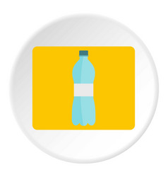 Bottle of water icon circle vector