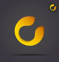 C letter circular icon vector