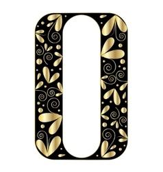 Decorative letter shape font type o vector