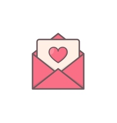 Envelope with heart inside vector image vector image