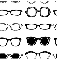 Glasses seamless background vector