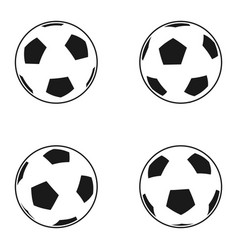 icon set of ball for european football soccer vector image