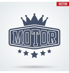 Motor Club Signs and Label vector image vector image
