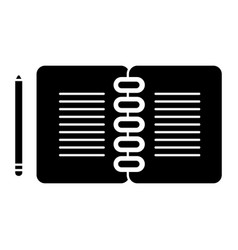 notebook with pencil icon vector image
