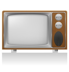 old tv 01 vector image