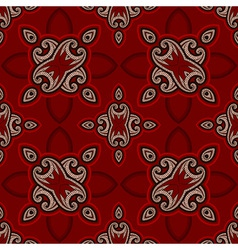 Oriental pattern in red and black colors vector