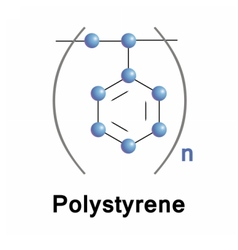 Polystyrene synthetic polymer vector image vector image