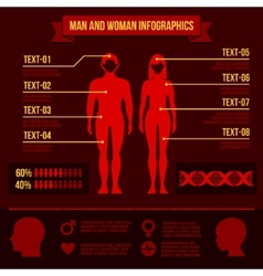 Set of Man and Woman Infographic Elements vector image vector image