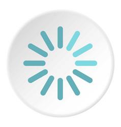 Sign waiting download icon circle vector