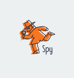 Spy icon logo vector