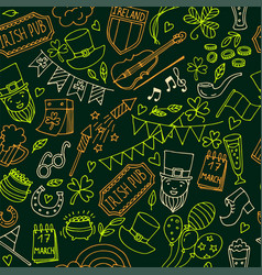 stpatrick s day seamless pattern of the vector image