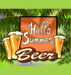 Summer vacation and travel designbeer vector