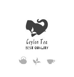 Tea shop logo template vector