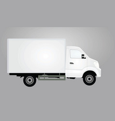 white delivery truck vector image