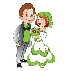 Woman giving flowers to boyfriend vector