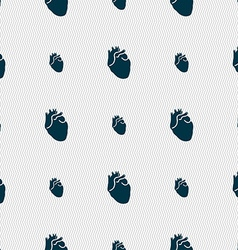 Human heart sign seamless pattern with geometric vector