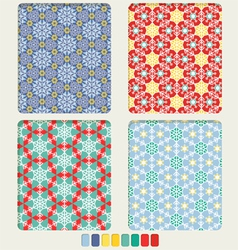 Snowflakes bright pattern vector