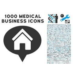 House info balloon icon with 1000 medical business vector