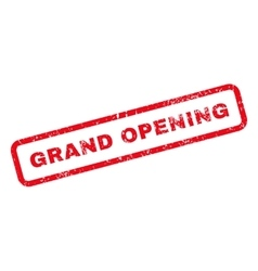 Grand Opening Text Rubber Stamp vector image