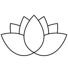 Lotus flower icon vector