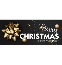 Merry christmas or happy new year web banner vector